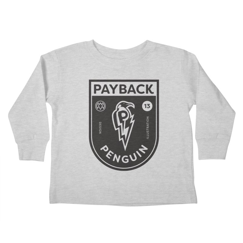 Payback Penguin Shocker Shield Kids Toddler Longsleeve T-Shirt by Payback Penguin