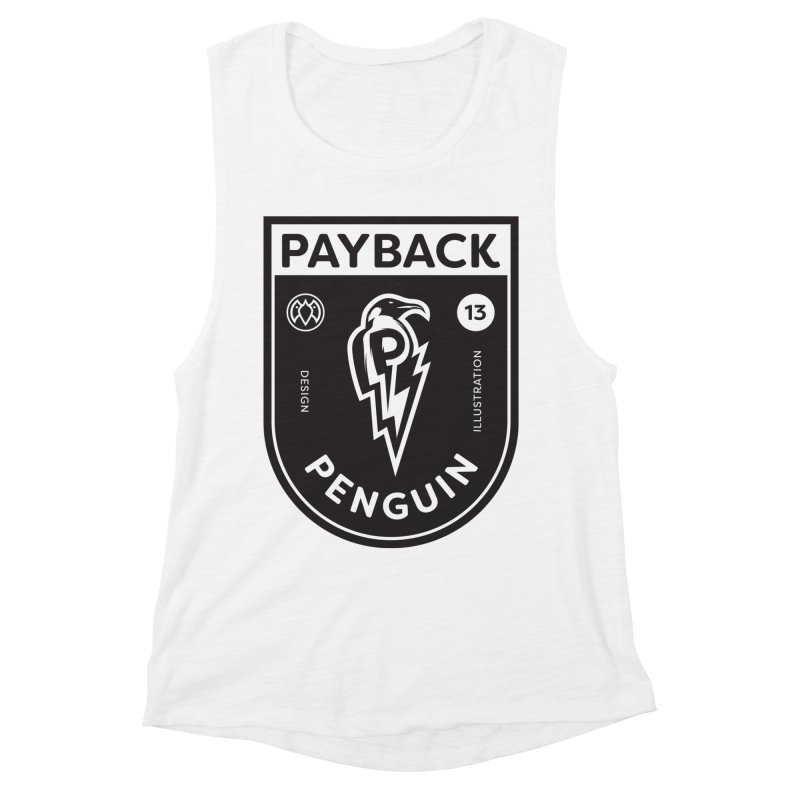 Payback Penguin Shocker Shield Women's Muscle Tank by Payback Penguin