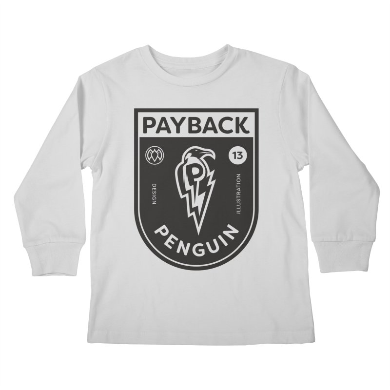Payback Penguin Shocker Shield Kids Longsleeve T-Shirt by Payback Penguin