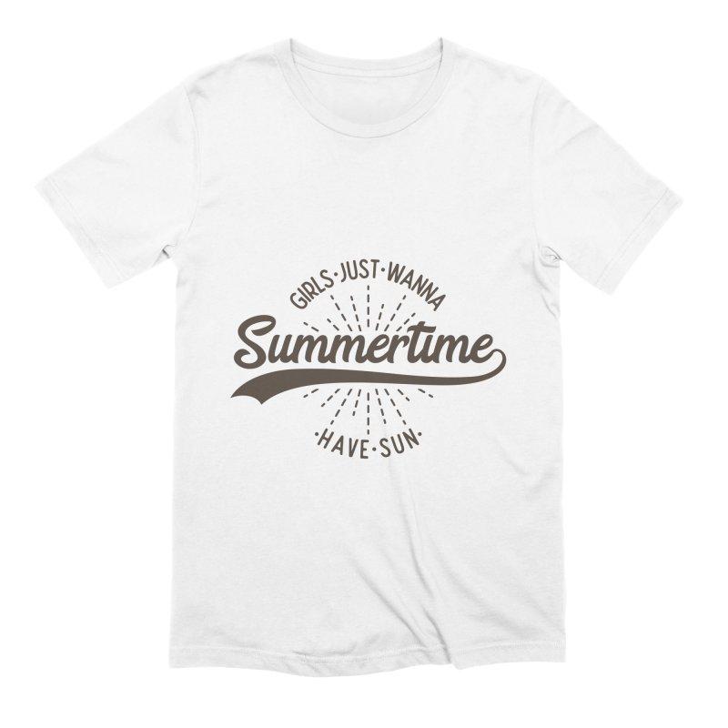 Summertime - Girls Just Wanna Have Sun Men's Extra Soft T-Shirt by Pbatu's Artist Shop