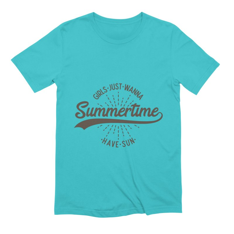 Summertime - Girls Just Wanna Have Sun Men's T-Shirt by Pbatu's Artist Shop