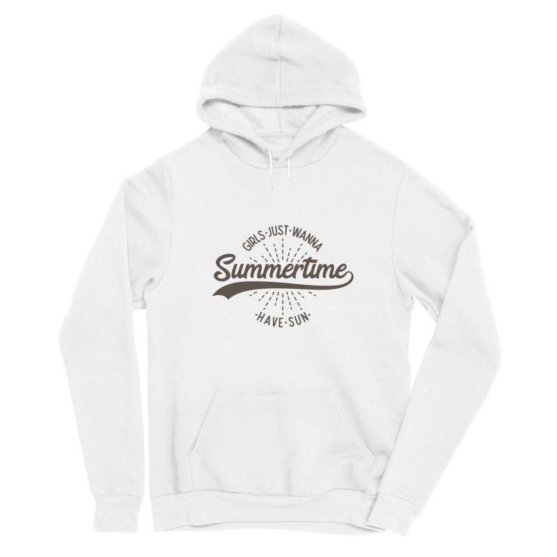 Summertime - Girls Just Wanna Have Sun Men's Sponge Fleece Pullover Hoody by Pbatu's Artist Shop