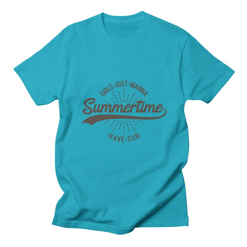 Summertime - Girls Just Wanna Have Sun Men's Regular T-Shirt by Pbatu's Artist Shop