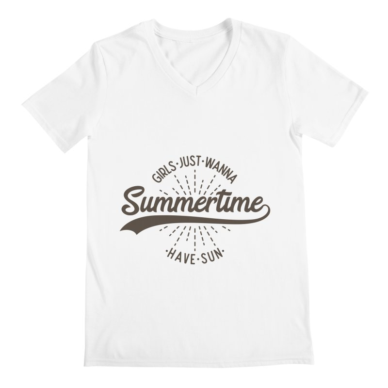 Summertime - Girls Just Wanna Have Sun Men's Regular V-Neck by Pbatu's Artist Shop