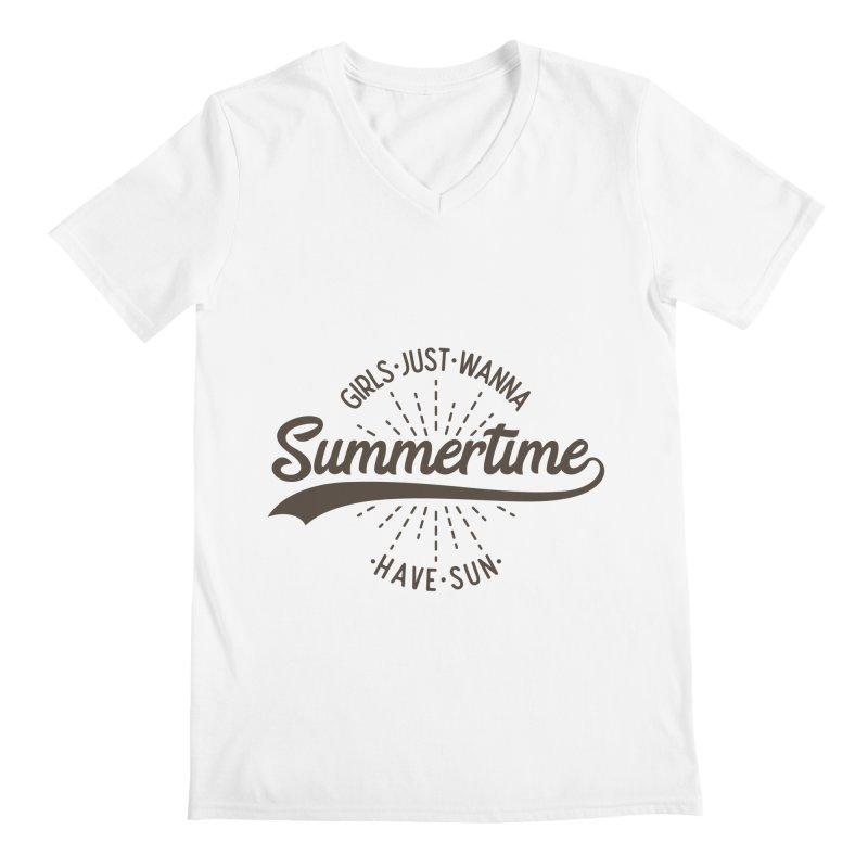 Summertime - Girls Just Wanna Have Sun Men's V-Neck by Pbatu's Artist Shop