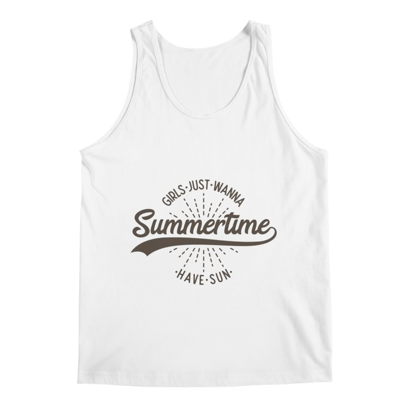 Summertime - Girls Just Wanna Have Sun Men's Regular Tank by Pbatu's Artist Shop