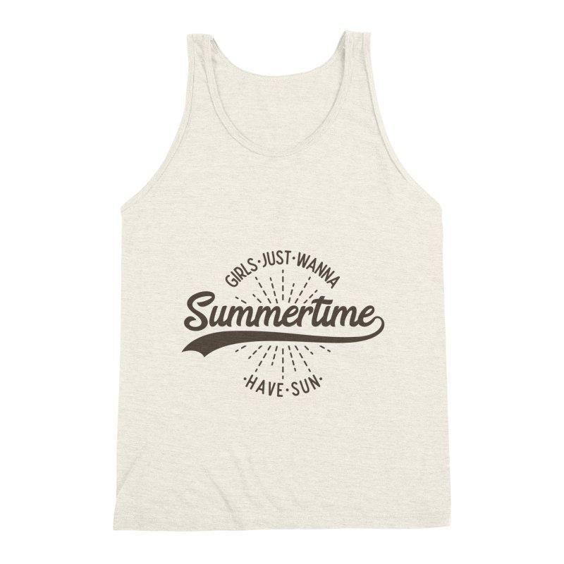 Summertime - Girls Just Wanna Have Sun Men's Tank by Pbatu's Artist Shop