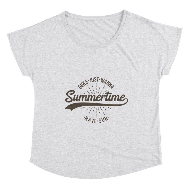 Summertime - Girls Just Wanna Have Sun Women's Scoop Neck by Pbatu's Artist Shop