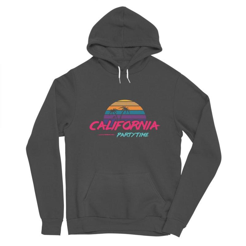California - Summervibes Men's Sponge Fleece Pullover Hoody by Pbatu's Artist Shop