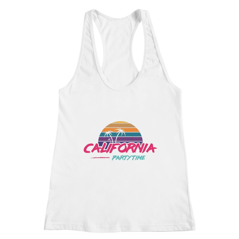 California - Summervibes Women's Racerback Tank by Pbatu's Artist Shop