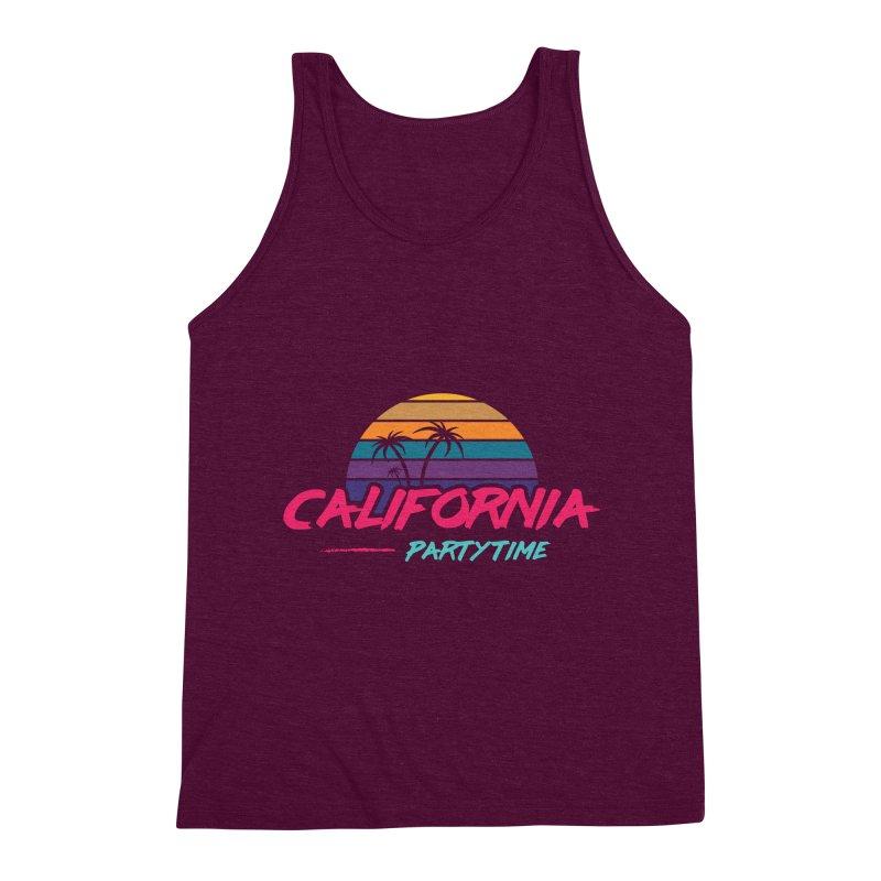 California - Summervibes Men's Triblend Tank by Pbatu's Artist Shop
