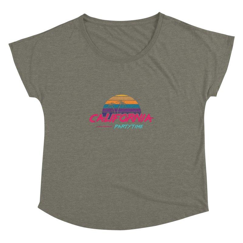 California - Summervibes Women's Dolman Scoop Neck by Pbatu's Artist Shop