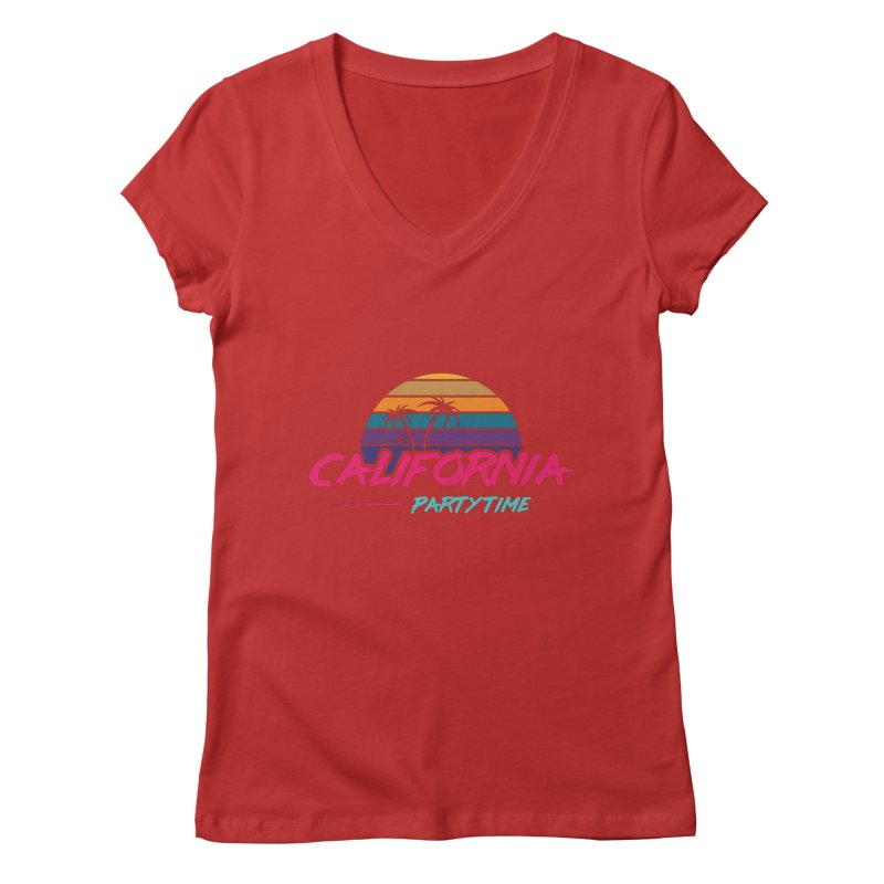 California - Summervibes Women's Regular V-Neck by Pbatu's Artist Shop