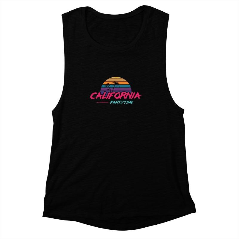 California - Summervibes Women's Muscle Tank by Pbatu's Artist Shop