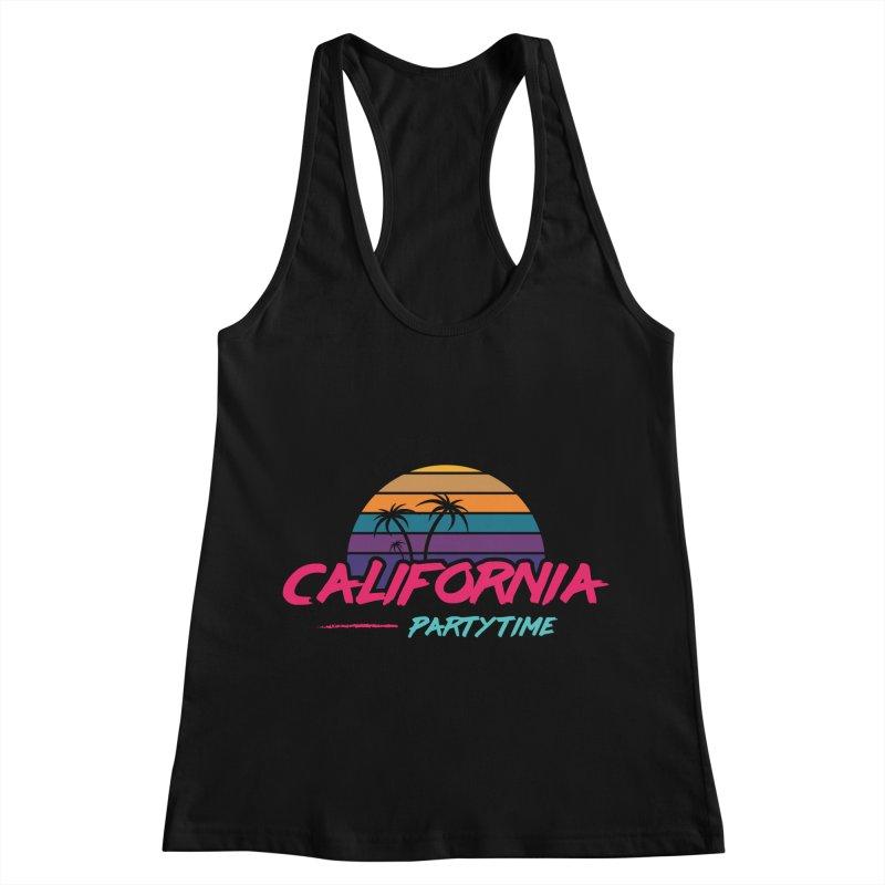 California - Summervibes Women's Racerback Tank by Pbatu's Artist Shop