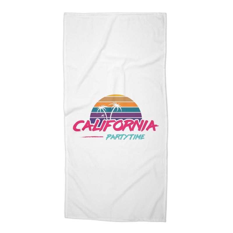 California - Summervibes Accessories Beach Towel by Pbatu's Artist Shop