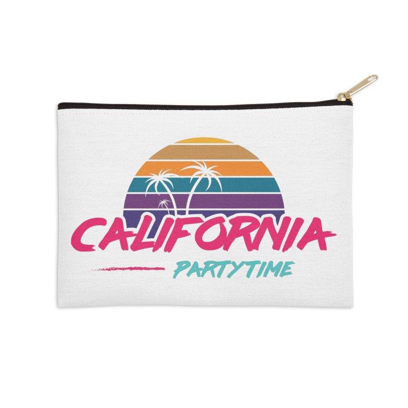 California - Summervibes Accessories Zip Pouch by Pbatu's Artist Shop