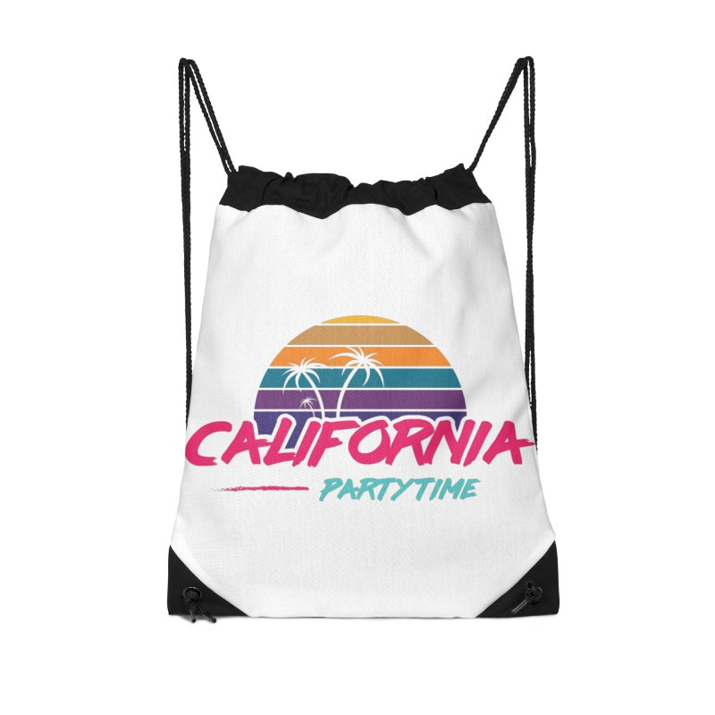 California - Summervibes Accessories Drawstring Bag Bag by Pbatu's Artist Shop