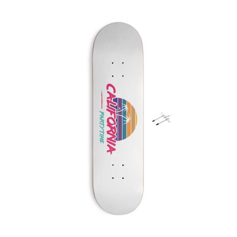 California - Summervibes Accessories With Hanging Hardware Skateboard by Pbatu's Artist Shop