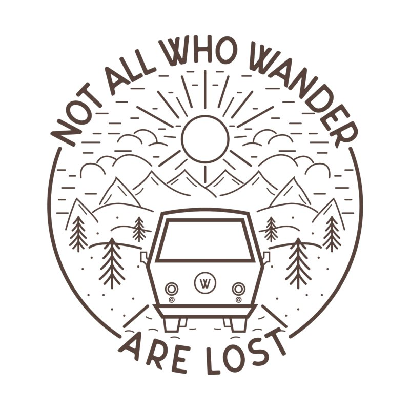 Not all Who Wander are Lost Accessories Sticker by Pbatu's Artist Shop
