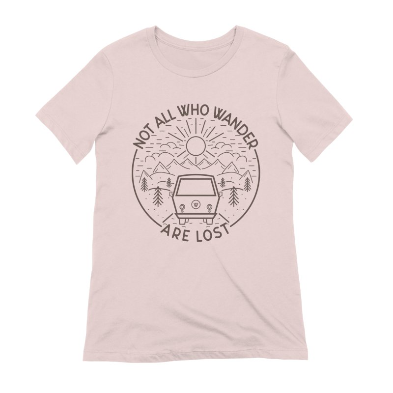 Not all Who Wander are Lost Women's Extra Soft T-Shirt by Pbatu's Artist Shop