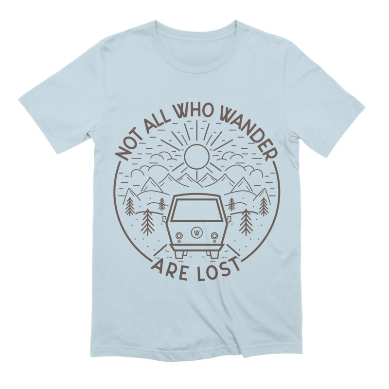 Not all Who Wander are Lost Men's Extra Soft T-Shirt by Pbatu's Artist Shop
