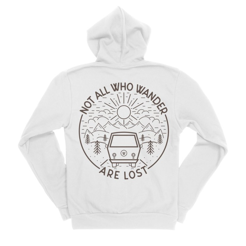 Not all Who Wander are Lost Men's Zip-Up Hoody by Pbatu's Artist Shop