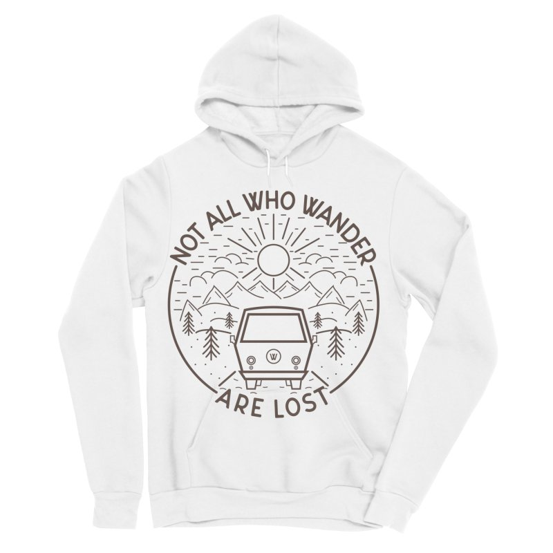 Not all Who Wander are Lost Women's Sponge Fleece Pullover Hoody by Pbatu's Artist Shop
