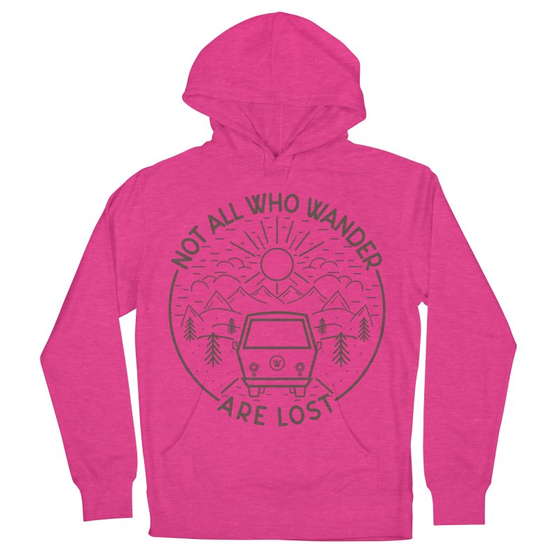 Not all Who Wander are Lost Men's French Terry Pullover Hoody by Pbatu's Artist Shop
