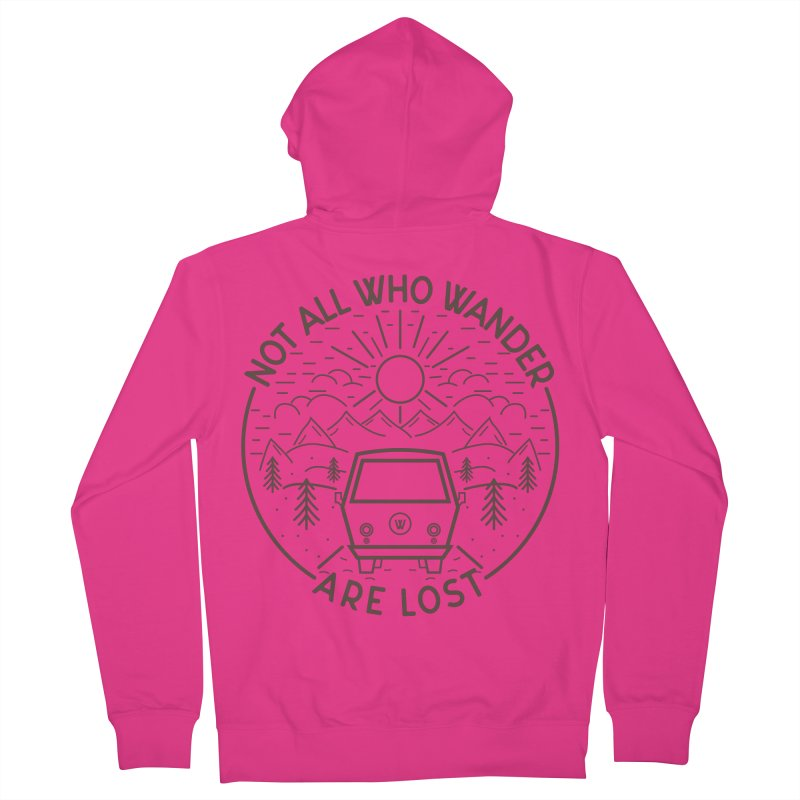 Not all Who Wander are Lost Men's French Terry Zip-Up Hoody by Pbatu's Artist Shop