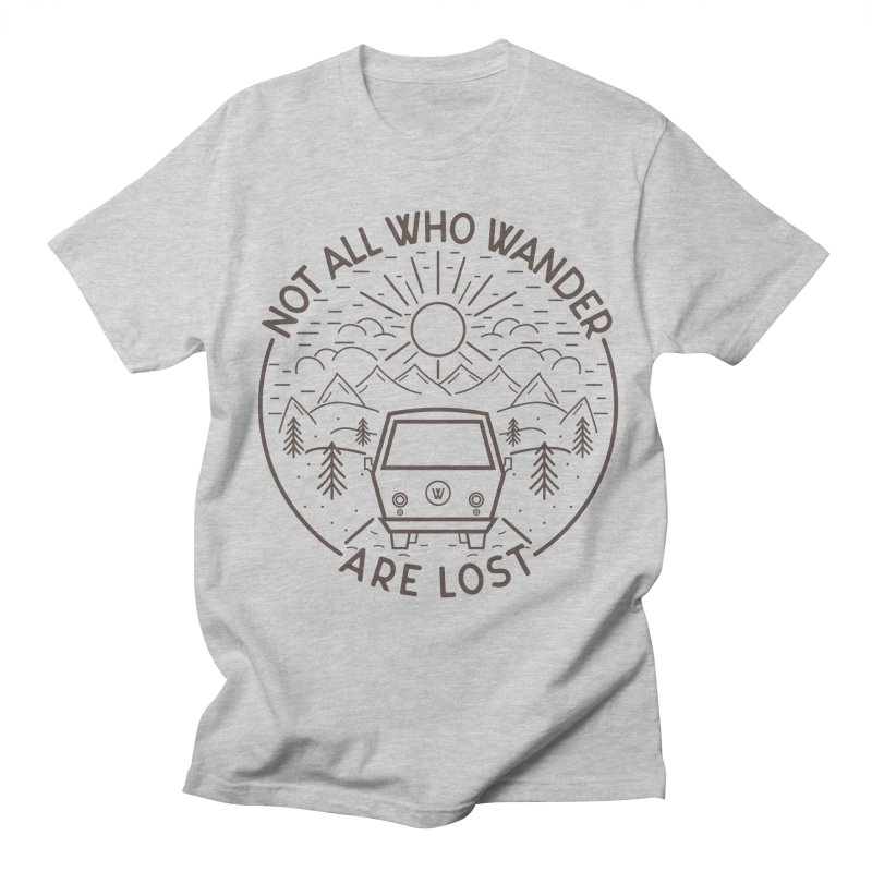 Not all Who Wander are Lost Men's Regular T-Shirt by Pbatu's Artist Shop