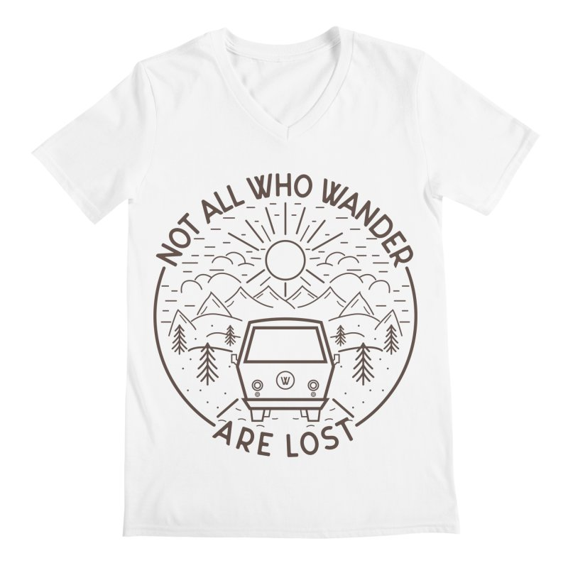 Not all Who Wander are Lost Men's Regular V-Neck by Pbatu's Artist Shop