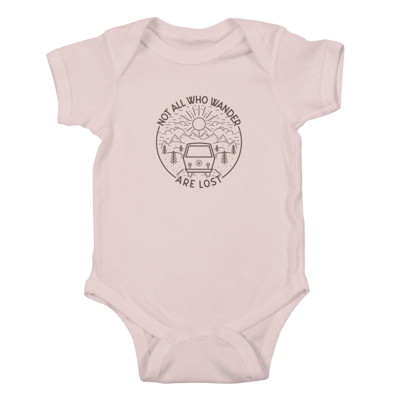 Not all Who Wander are Lost Kids Baby Bodysuit by Pbatu's Artist Shop