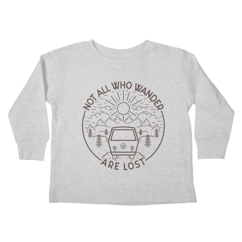 Not all Who Wander are Lost Kids Toddler Longsleeve T-Shirt by Pbatu's Artist Shop