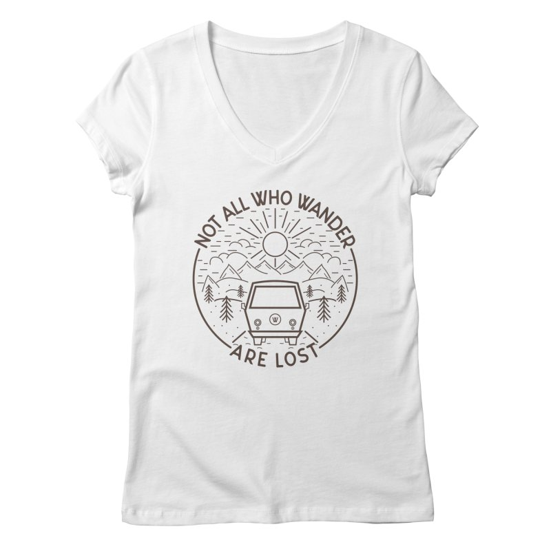 Not all Who Wander are Lost Women's Regular V-Neck by Pbatu's Artist Shop