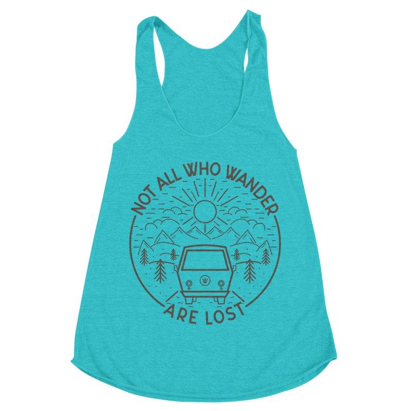 Not all Who Wander are Lost Women's Racerback Triblend Tank by Pbatu's Artist Shop