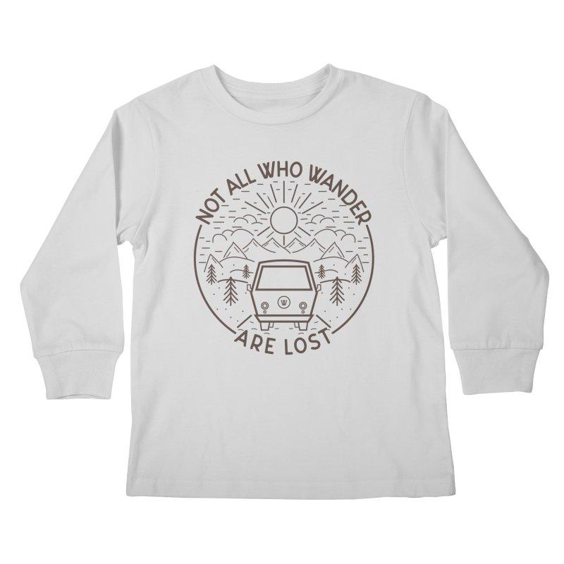 Not all Who Wander are Lost Kids Longsleeve T-Shirt by Pbatu's Artist Shop