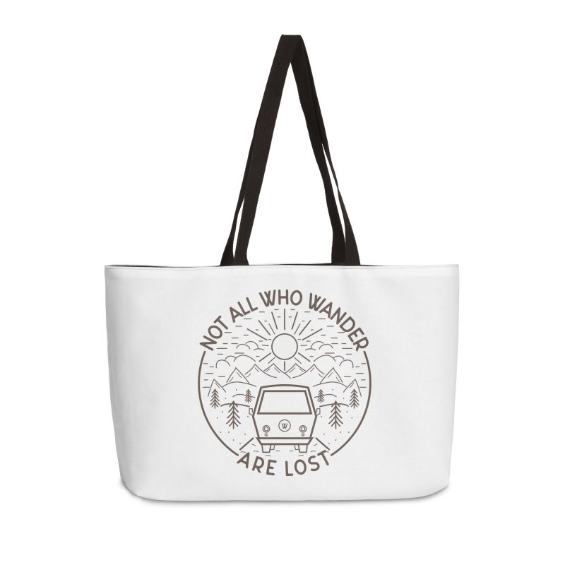 Not all Who Wander are Lost Accessories Weekender Bag Bag by Pbatu's Artist Shop