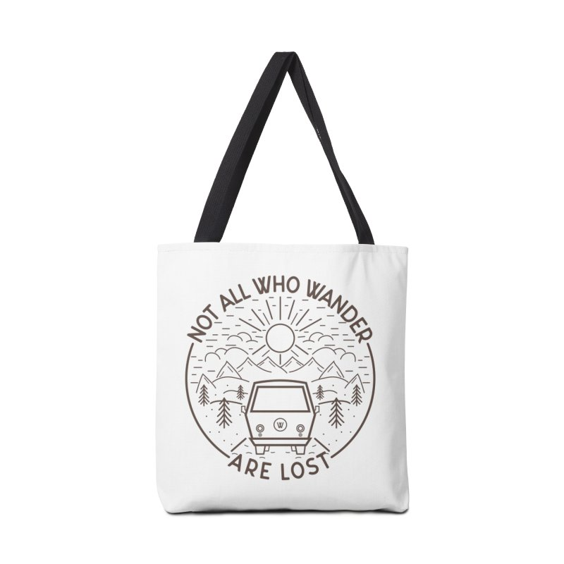 Not all Who Wander are Lost Accessories Tote Bag Bag by Pbatu's Artist Shop