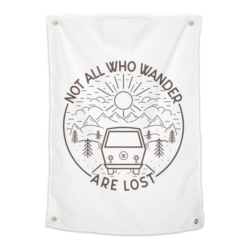 Not all Who Wander are Lost Home Tapestry by Pbatu's Artist Shop