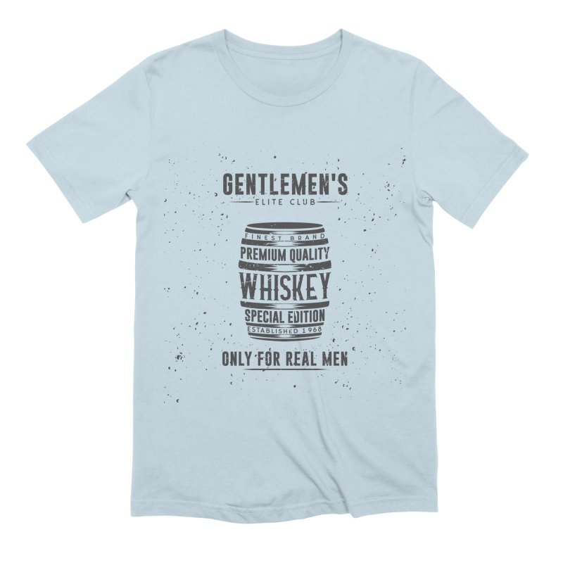 Vintage Whiskey Barrel illustration Men's Extra Soft T-Shirt by Pbatu's Artist Shop