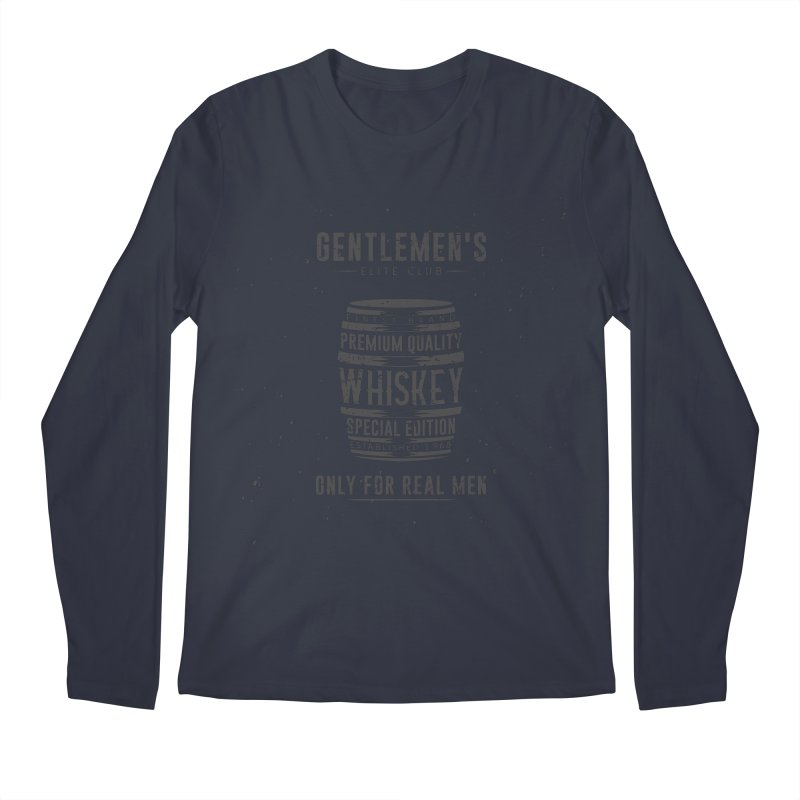 Vintage Whiskey Barrel illustration Men's Longsleeve T-Shirt by Pbatu's Artist Shop
