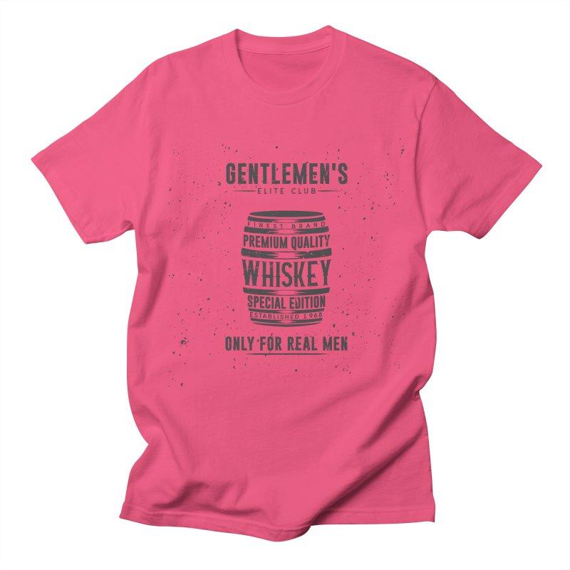 Vintage Whiskey Barrel illustration Men's T-Shirt by Pbatu's Artist Shop