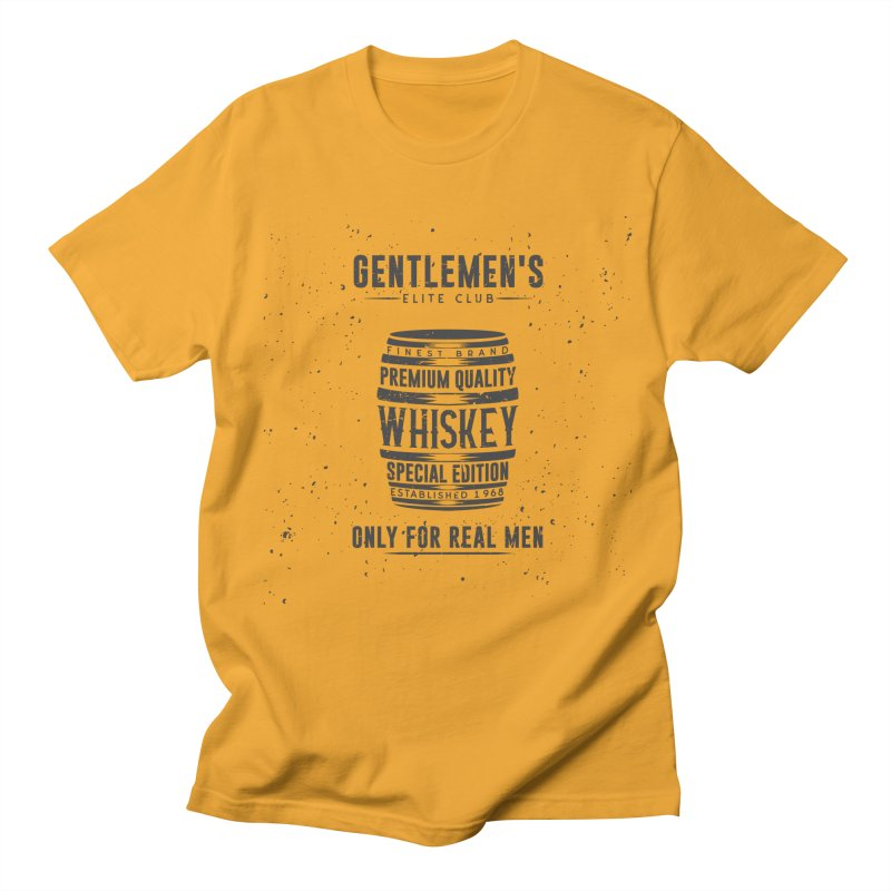 Vintage Whiskey Barrel illustration Women's Regular Unisex T-Shirt by Pbatu's Artist Shop