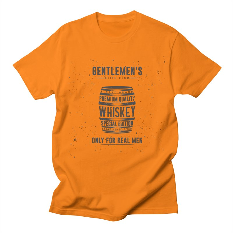 Vintage Whiskey Barrel illustration Men's Regular T-Shirt by Pbatu's Artist Shop