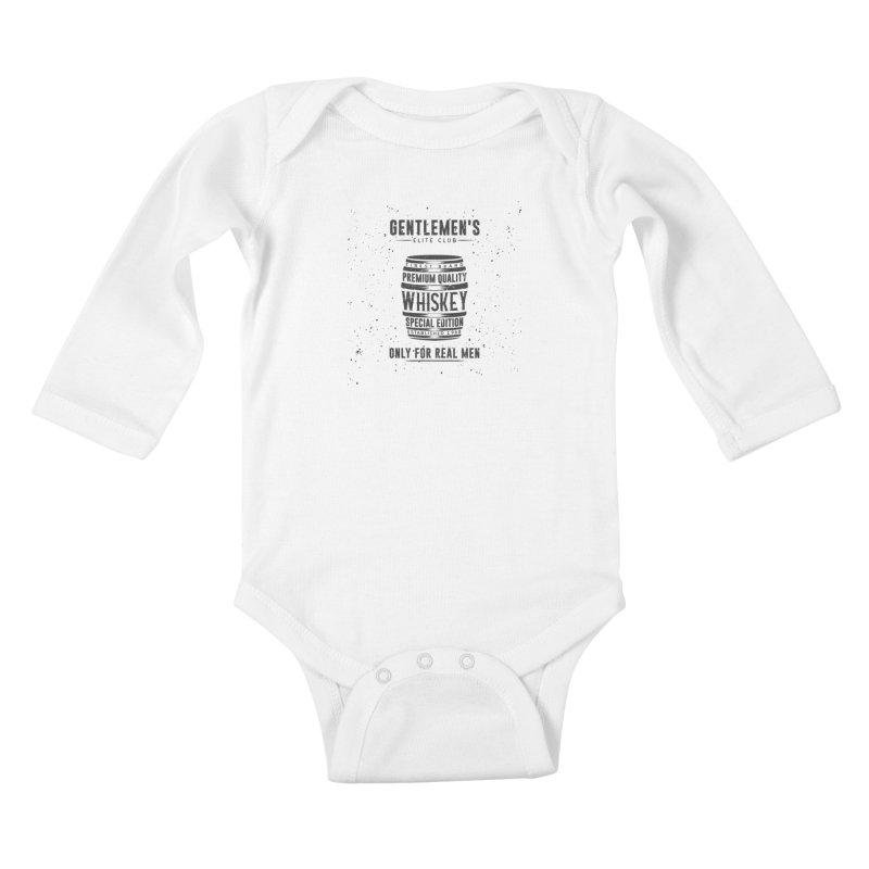 Vintage Whiskey Barrel illustration Kids Baby Longsleeve Bodysuit by Pbatu's Artist Shop