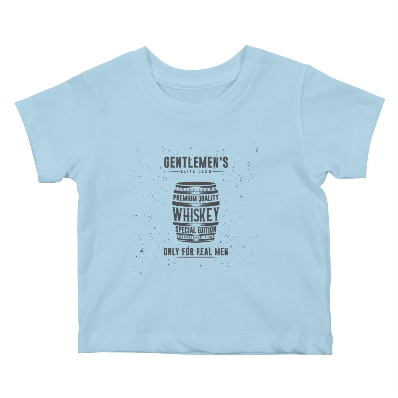 Vintage Whiskey Barrel illustration Kids Baby T-Shirt by Pbatu's Artist Shop
