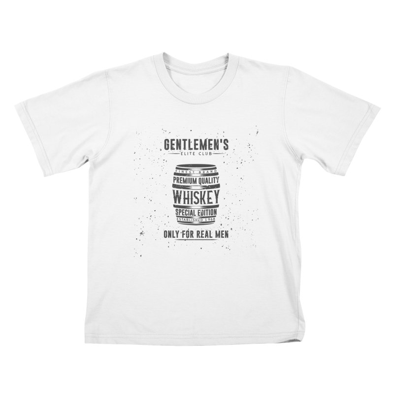 Vintage Whiskey Barrel illustration Kids T-Shirt by Pbatu's Artist Shop