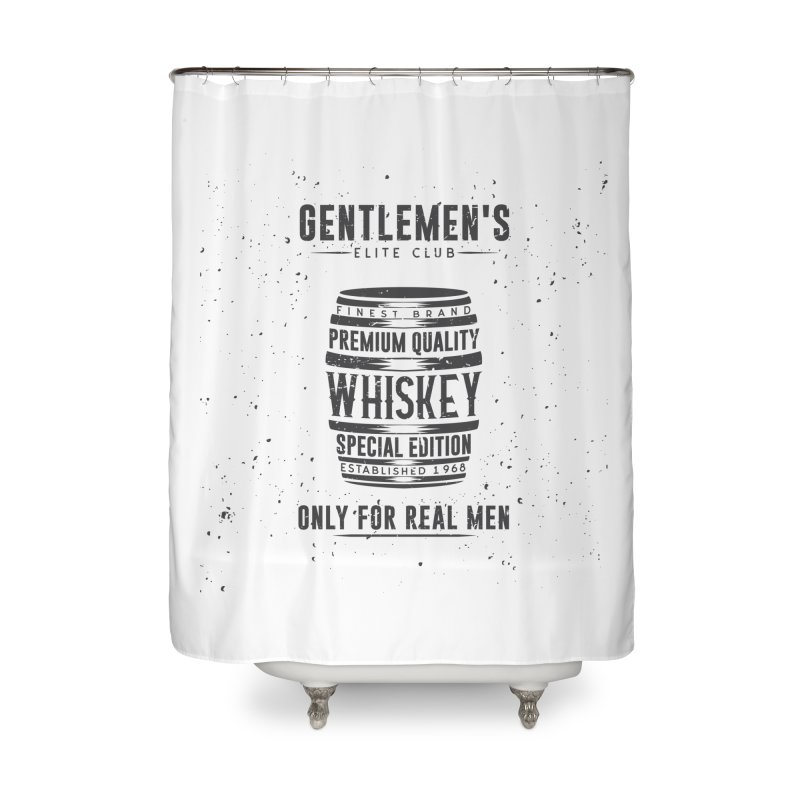 Vintage Whiskey Barrel illustration Home Shower Curtain by Pbatu's Artist Shop
