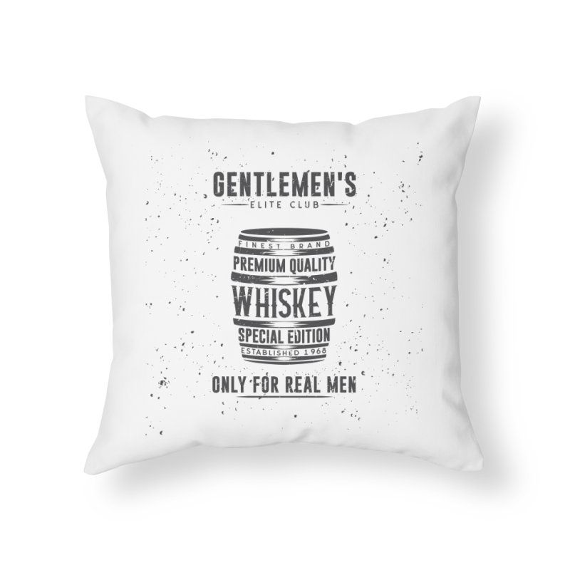 Vintage Whiskey Barrel illustration Home Throw Pillow by Pbatu's Artist Shop
